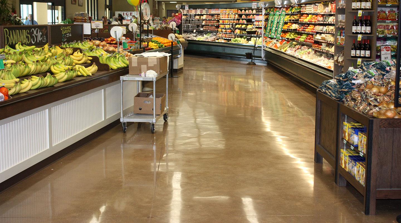 floor coating in grocery store