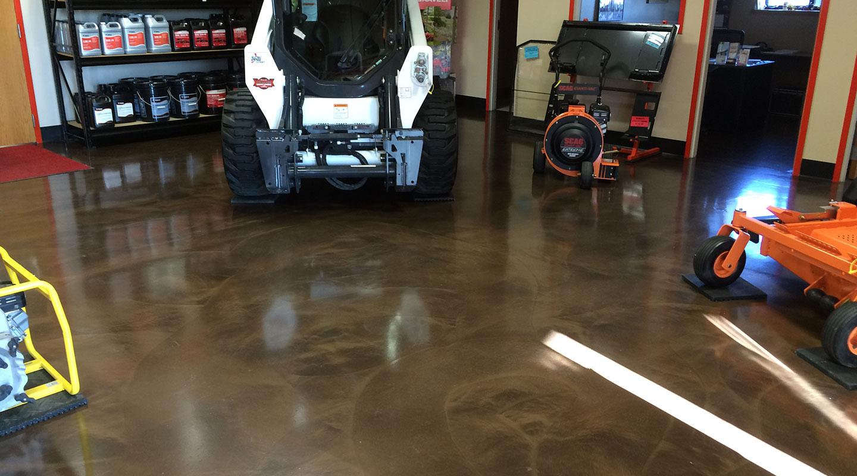 floor coating in commercial building