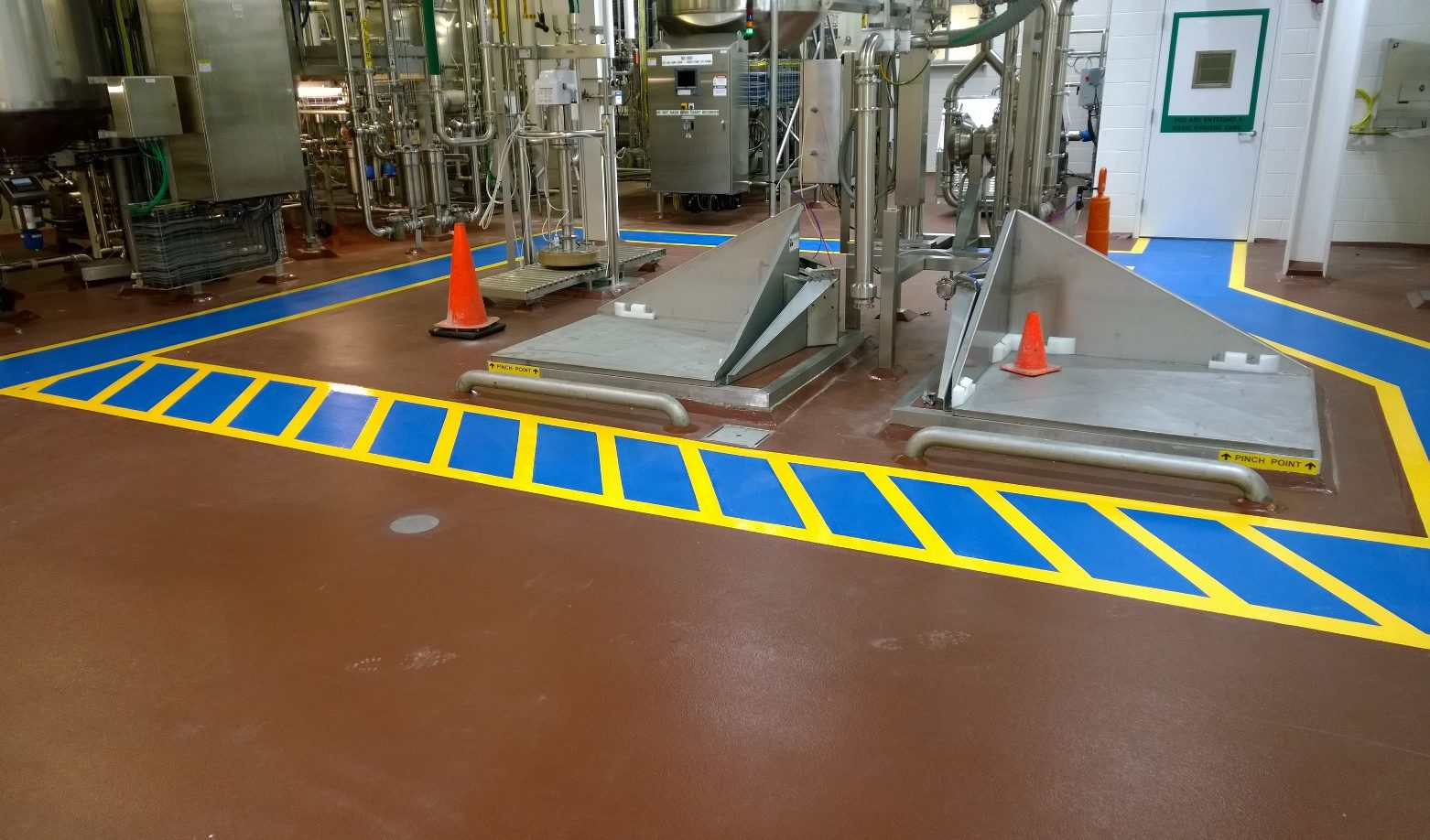floor coating in commercial building